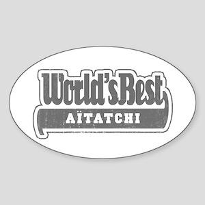 WB Grandpa [Basque] Oval Sticker